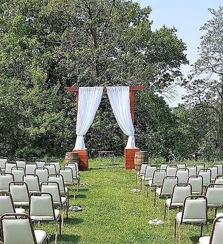 Wedding Arbor Stained