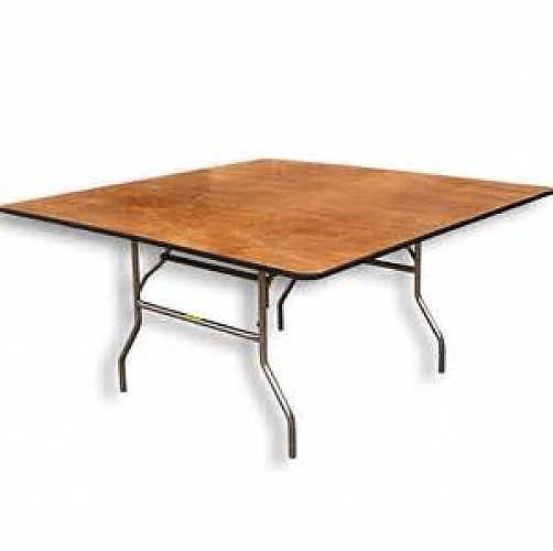 5' square Plywood top Table