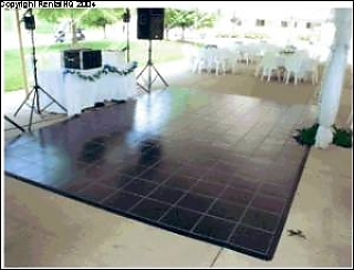 Faux Black Marble Dance Floor