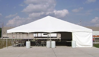 Tent sidewall white