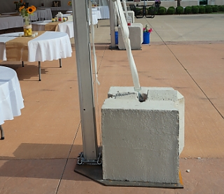 Concrete Blocks & Tent Anchors | AAA Rents